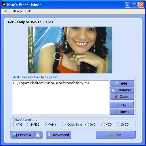 Screenshot of Kate's Video Joiner - free beta