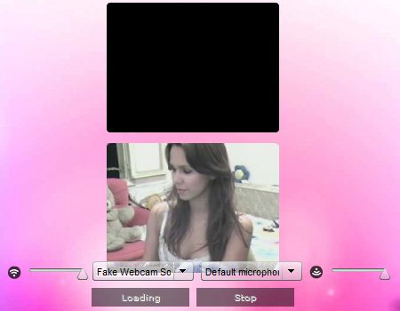ChatRoulette webcam: Now ChatRoulette! is ready to use your Fake webcam Source.